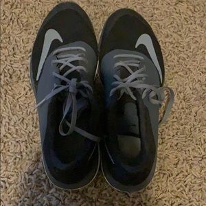 Black and Grey Nike Running Shoes